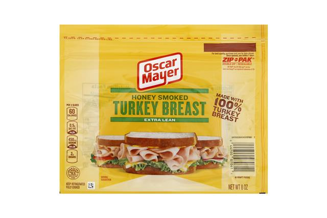 OSCAR MAYER Cold Cuts Honey Smoked Turkey Breast 8oz Pack