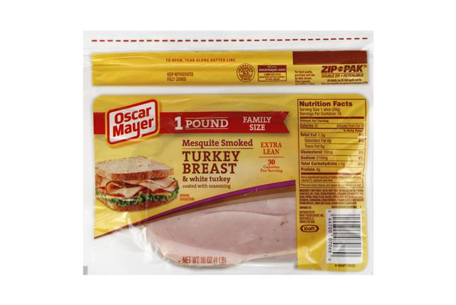 OSCAR MAYER Cold Cuts Mesquite Smoked Turkey Breast 16oz Pack