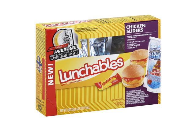 Oscar Mayer Lunchables Chicken Sliders Fun Pack W/Capri Sun