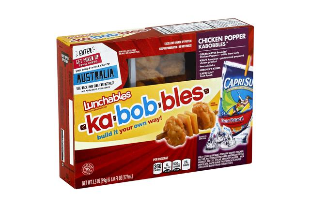 LUNCHABLES CONVENIENCE MEALS-SINGLE SERVE CHICKEN AND CHEESE 9.5 OZ BOX