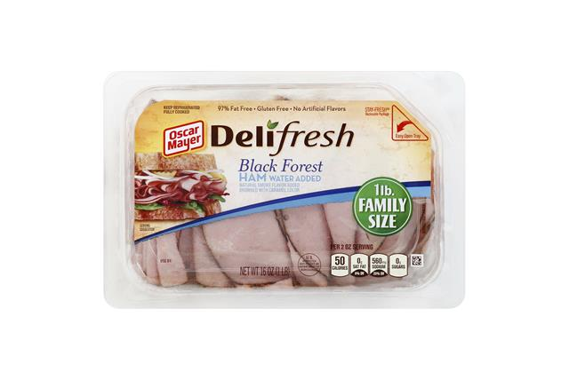 OSCAR MAYER Deli Fresh Black Forest Ham 16oz Tub