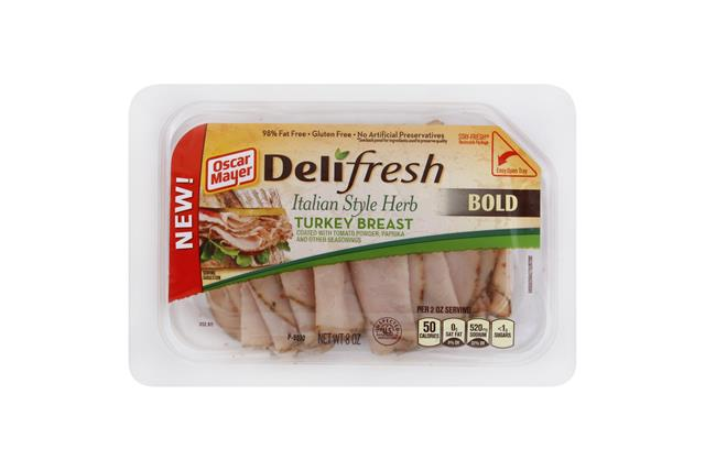 OSCAR MAYER Deli Fresh Italian Herb Turkey Breast 8oz Tub