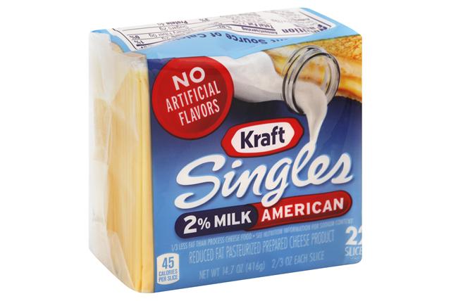 Kraft Singles 2% Milk American Cheese Slices 22 Ct Pack
