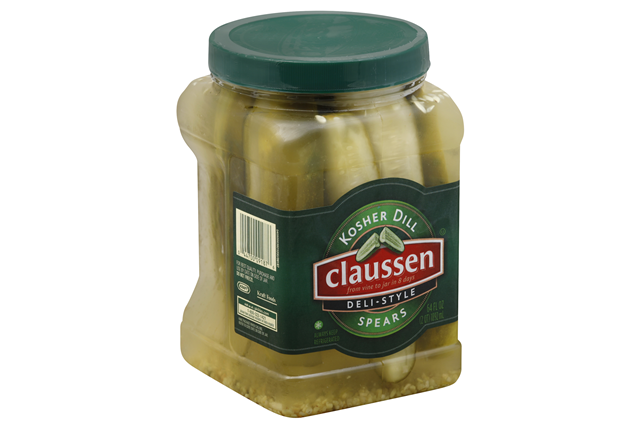 CLAUSSEN Kosher Dill Deli Style Spears Pickles 64 oz. Plastic  Jar
