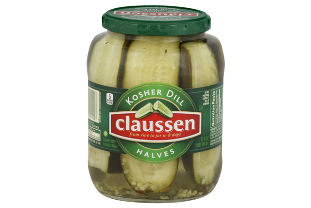 CLAUSSEN Kosher Dill Halves Pickles 32 oz. Jar