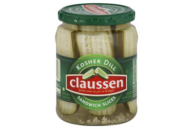 CLAUSSEN Kosher Dill Sandwich Slices Pickles 20 oz. Jar