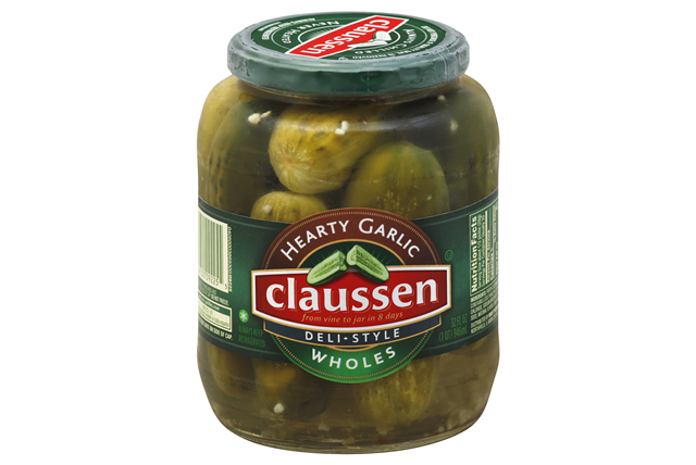 CLAUSSEN Hearty Garlic Whole Pickles 32 oz. Jar