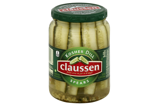 CLAUSSEN Kosher Dill Spears Pickles 24 oz. Jar