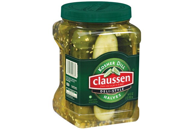 CLAUSSEN Kosher Dill Deli Style Halves Pickles 64 oz. Plastic Jar