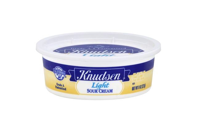 Knudsen Original Light Sour Cream 8 Oz Tub