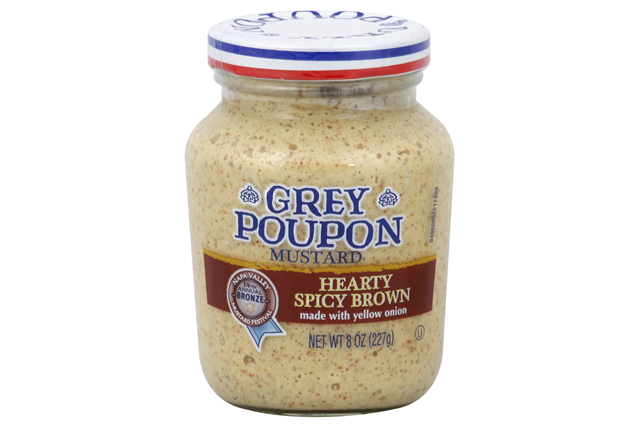 Grey Poupon Hearty Spicy Brown Mustard 8 Oz Jar