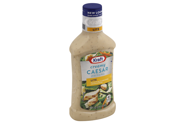 KRAFT Creamy Caesar Light Dressing 16 oz Bottle
