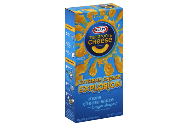 KRAFT Mac & Cheese Extreme Explosion