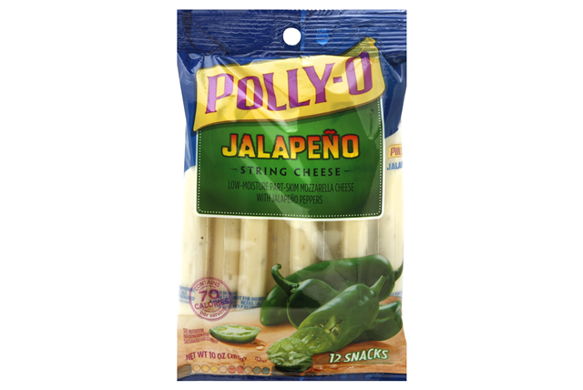 Polly-O 10 Oz Natural Cheese-String Low Moisture Part Skim Jalapeno     1  Each