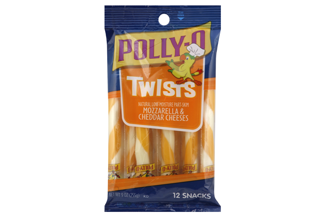Polly-O Mozzarella & Cheddar Twists - 12Ct