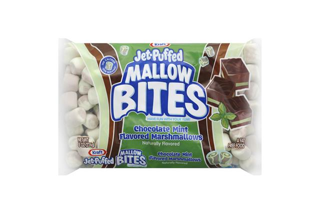 Kraft(R) Jet-Puffed Mallow Bites Chocolate Mint Marshmallows 8 Oz. Bag