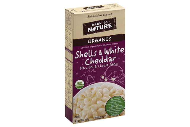 Back to Nature Organic Shells & White Cheddar Macaroni & Cheese Dinner 6 oz. Box