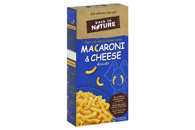 BACK TO NATURE Macaroni and Cheese Elbows