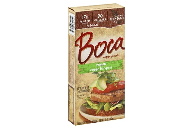 BOCA Burgers Vegan Made with NonGMO Soy 4 ct Box