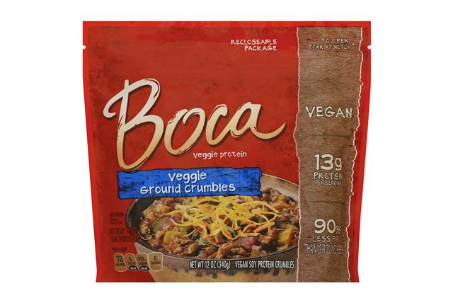BOCA Meatless Ground Crumbles Vegan 12 oz. Pouch