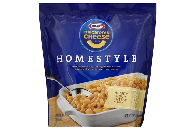 Kraft Homestyle Hearty Four Cheese Macaroni & Cheese Dinner 12.6 oz. Bag