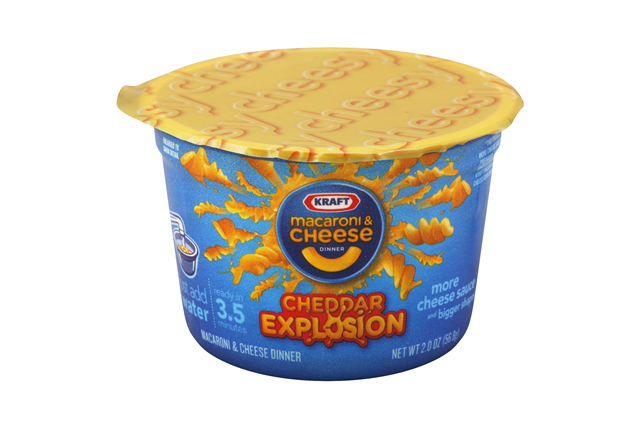 Kraft Cheddar Explosion Macaroni & Cheese Dinner 2 oz. Microcup