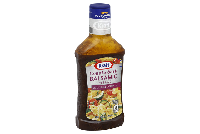KRAFT Balsamic Vinaigrette w/ Tomato and Basil Dressing 16 oz Bottle