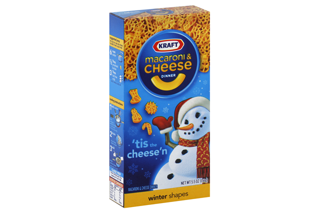 Kraft Macaroni & Cheese Dinner Winter Shapes 5.5 oz. Box