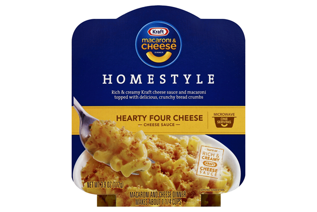 Kraft Macaroni Cheese Homestyle Hearty Four Dinner 3 9 Oz Microwave Bowl