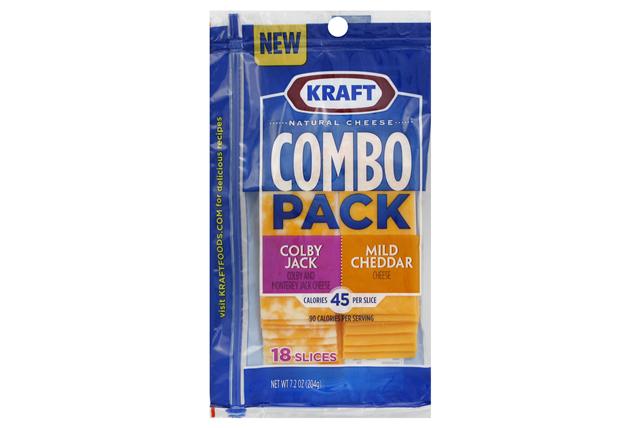 Kraft Colby Jack & Mild Cheddar Slices Combo Pack - 18Ct