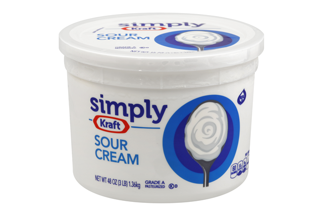 Simply Kraft Sour Cream 48 Oz. Tub