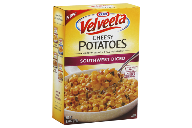 Kraft Velveeta Southwest Diced Cheesy Potatoes 9.64 oz. Box