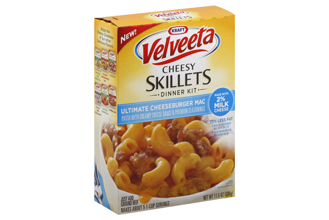 Velveeta 11.5 Oz Dinner Kit 2% Cheeseburger     1 Box/Carton Each