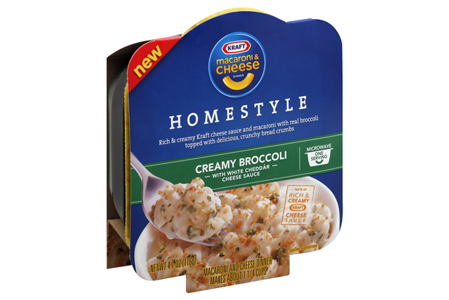 Kraft Homestyle Creamy Broccoli Macaroni Cheese Dinner 4 1 Oz Microwave Bowl