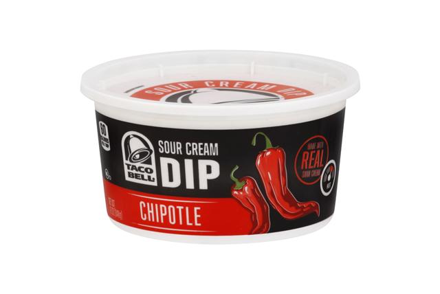 Taco Bell(R) Chipotle Sour Cream Dip 12 oz. Tub