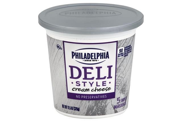 Philadelphia Deli Style Plain Cream Cheese  11.5 Oz Tub