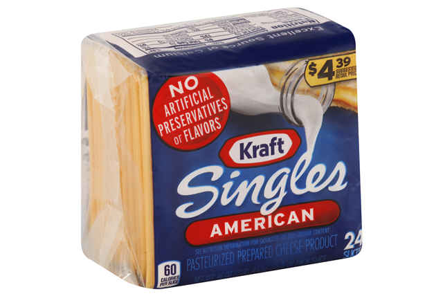 Kraft Singles American Cheese Slices 24 Ct Pack