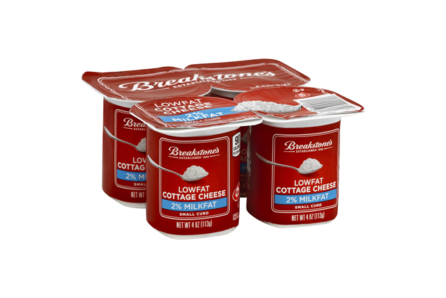 Breakstone's Small Curd 2% Milkfat Lowfat Cottage Cheese 4-4 Oz. Cups