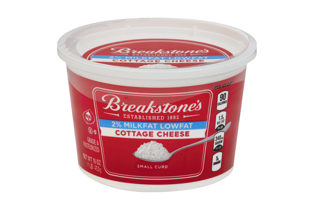 Breakstone's Small Curd 2% Milkfat Lowfat Cottage Cheese 16 Oz. Tub