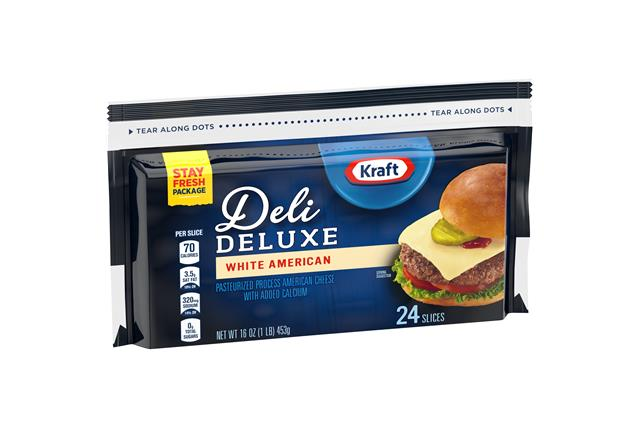 Kraft Deli Deluxe White American Cheese Slices 24 Ct Bag