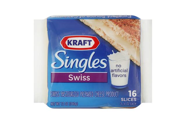 Kraft Singles Swiss Cheese Slices 16 Ct Pack