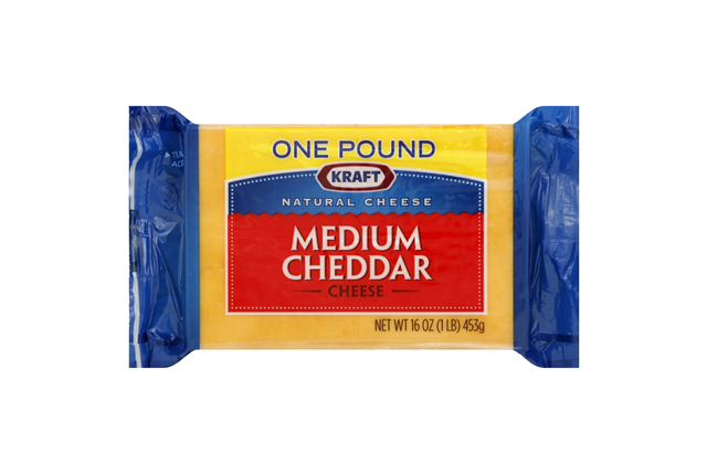 Kraft Natural Medium Cheddar Cheese - 16Oz