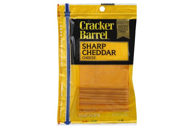 Kraft Cracker Barrel(R) Cheddar Sharp Cheese Slices 11 Ct 7 Oz Zip Pak
