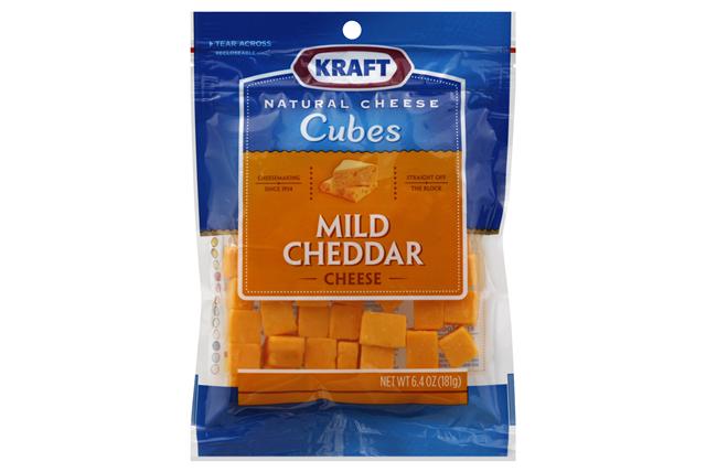 Kraft Natural Mild Cheddar Cheese Cubes - 6.4Oz