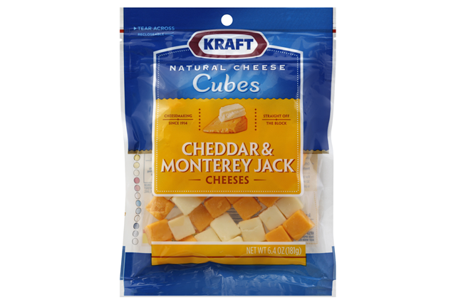 Kraft Natural Cheddar & Monterey Jack Cheese Cubes - 6.4Oz