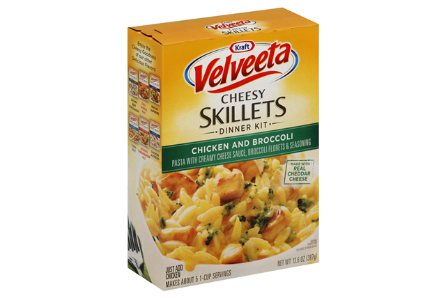 Kraft Dinners Velveeta Cheesy Skillets Chicken & Broccoli Dinner Kit 13.6 oz. Box