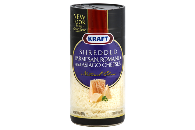Kraft Shredded Parmesan, Romano & Asiago Cheeses 7 Oz. Shaker