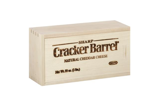 Cracker Barrel 2 Lb Natural Cheese  Sharp Cheddar     1 Wrapper Each