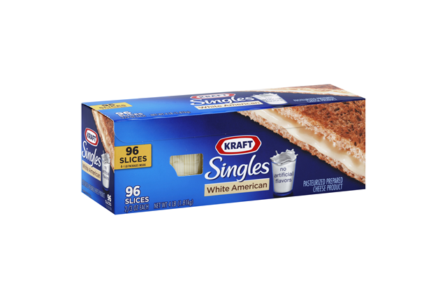 Kraft Singles White American Cheese Slices 96 Ct Box
