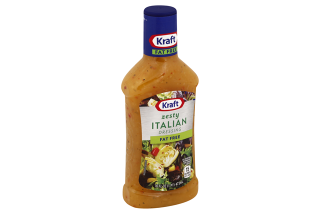 KRAFT Zesty Italian Fat Free Dressing 16 oz Bottle
